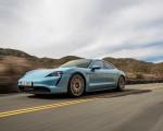 2020 Porsche Taycan 4S (Color: Frozen Blue Metallic) Front Three-Quarter Wallpapers 150x120 (38)
