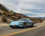 2020 Porsche Taycan 4S (Color: Frozen Blue Metallic) Front Three-Quarter Wallpapers 150x120 (39)