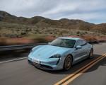2020 Porsche Taycan 4S (Color: Frozen Blue Metallic) Front Three-Quarter Wallpapers 150x120 (46)