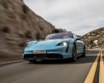 2020 Porsche Taycan 4S (Color: Frozen Blue Metallic) Front Three-Quarter Wallpapers 150x120 (40)