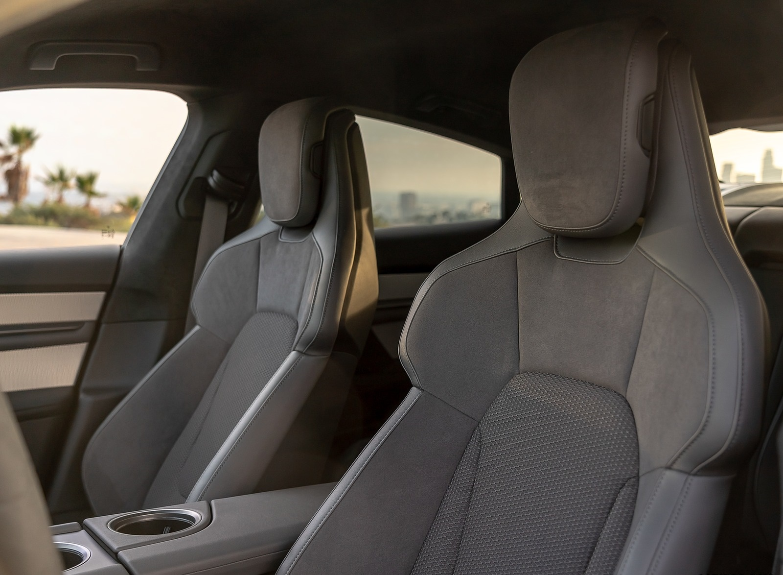 2020 Porsche Taycan 4s Color Frozen Blue Metallic Interior Front Seats Wallpapers 116 Newcarcars