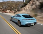 2020 Porsche Taycan 4S (Color: Frozen Blue Metallic) Rear Three-Quarter Wallpapers 150x120 (49)