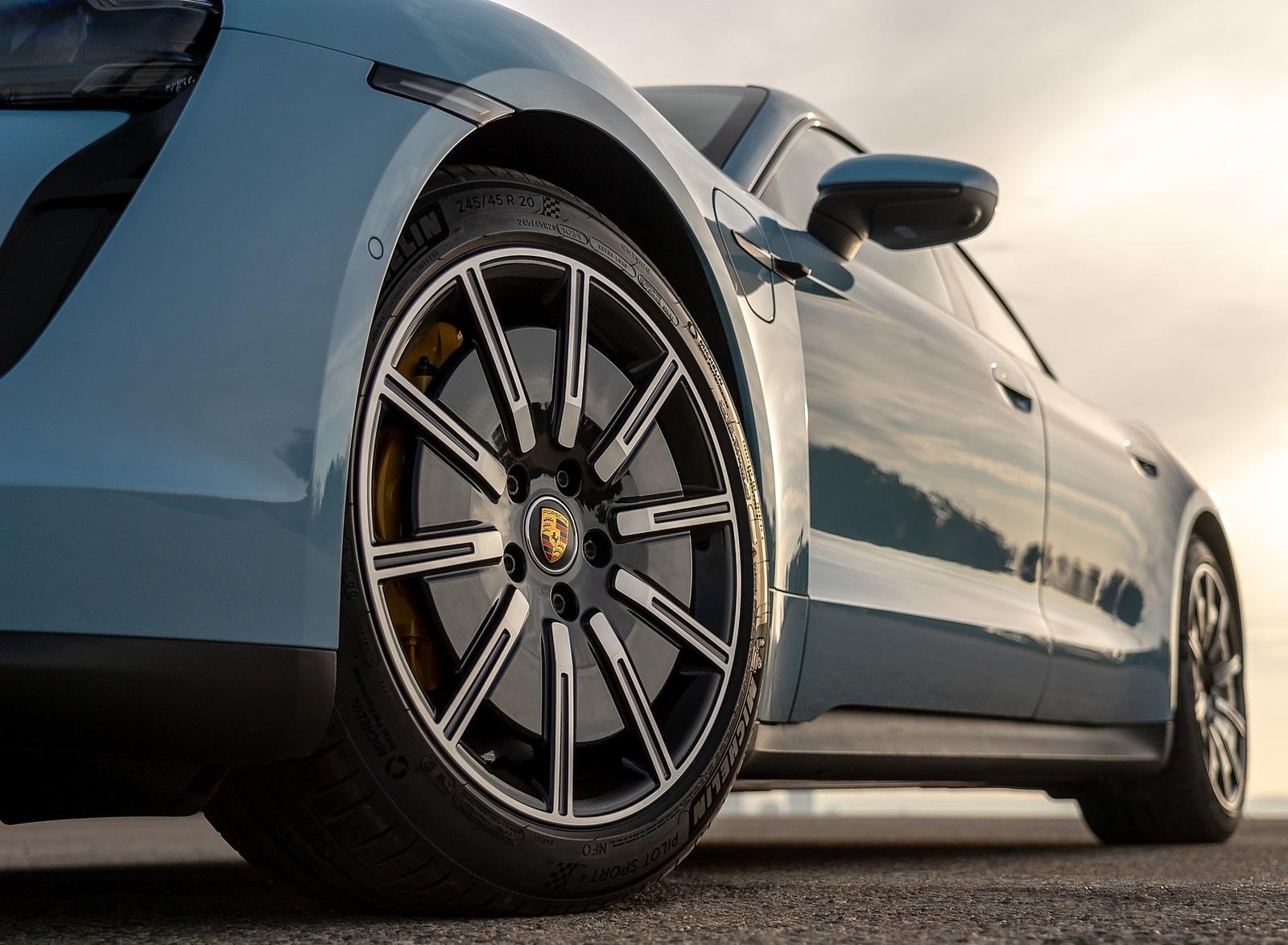 2020 Porsche Taycan 4s Color Frozen Blue Metallic Wheel Wallpapers 98 Newcarcars