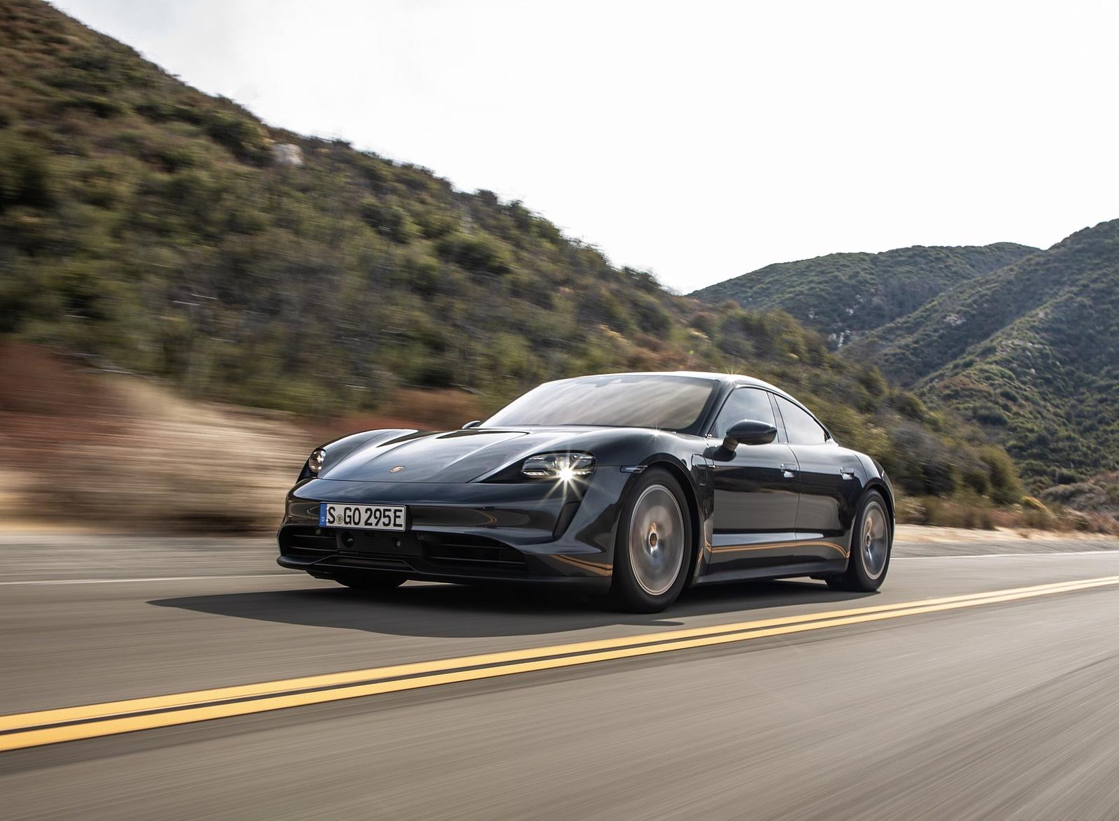 2020 Porsche Taycan 4S (Color: Volcano Grey Metallic) Front Three-Quarter Wallpapers (1)