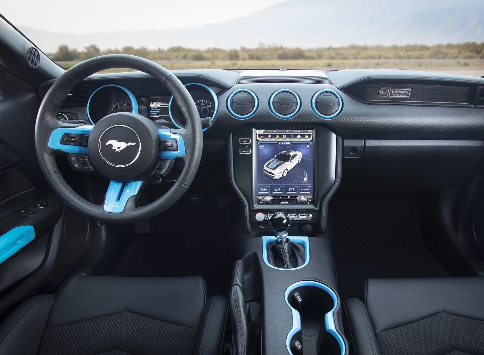 2019 Ford Mustang Lithium Concept Interior Cockpit Wallpapers (6)