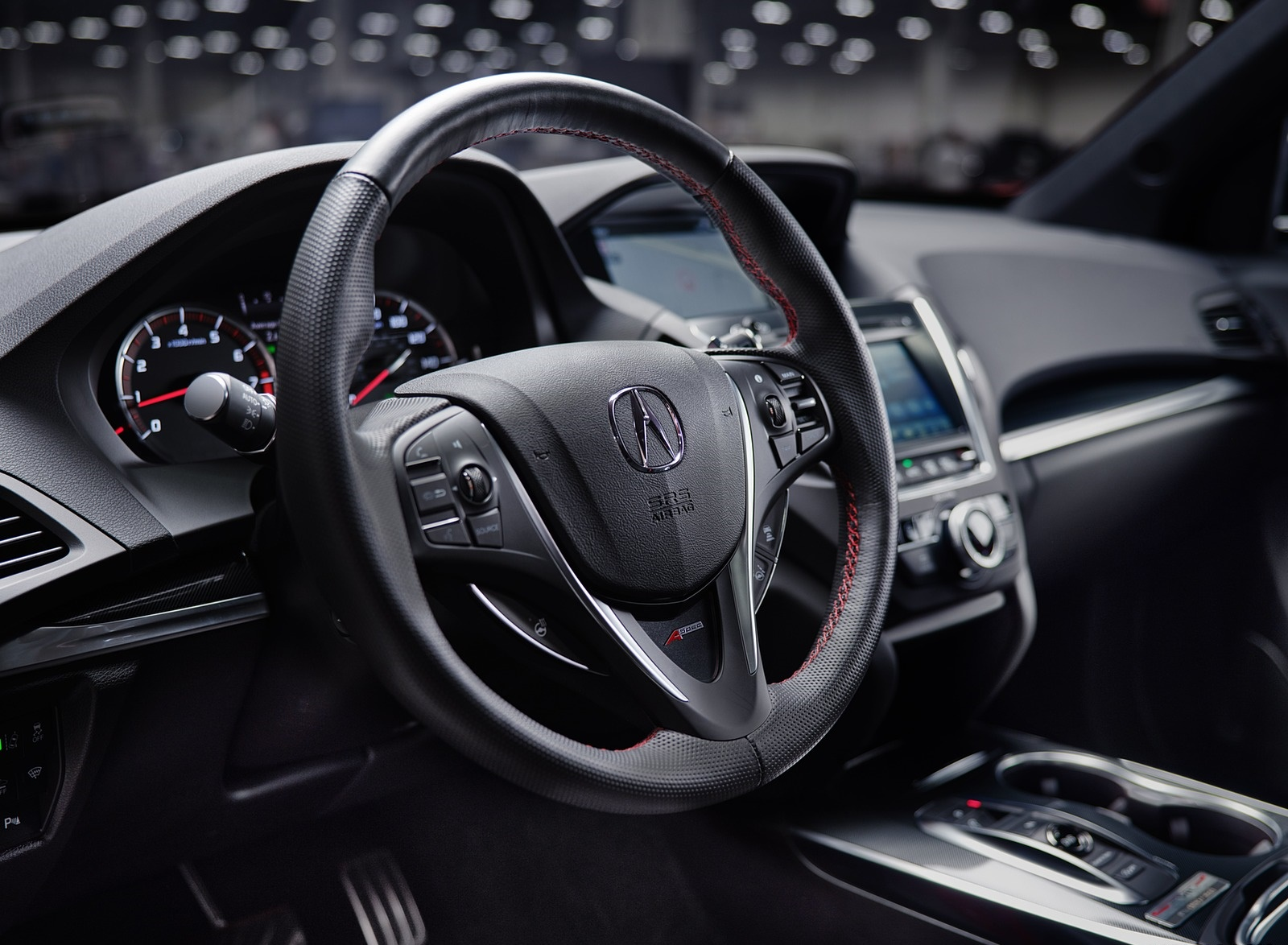 2020 Acura MDX PMC Edition Interior Steering Wheel Wallpapers (7)