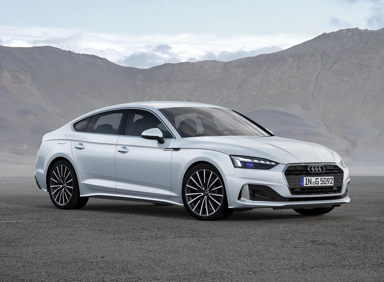 2020 Audi A5 Sportback g-tron (Color: Glacier White) Front Three-Quarter Wallpapers (3)