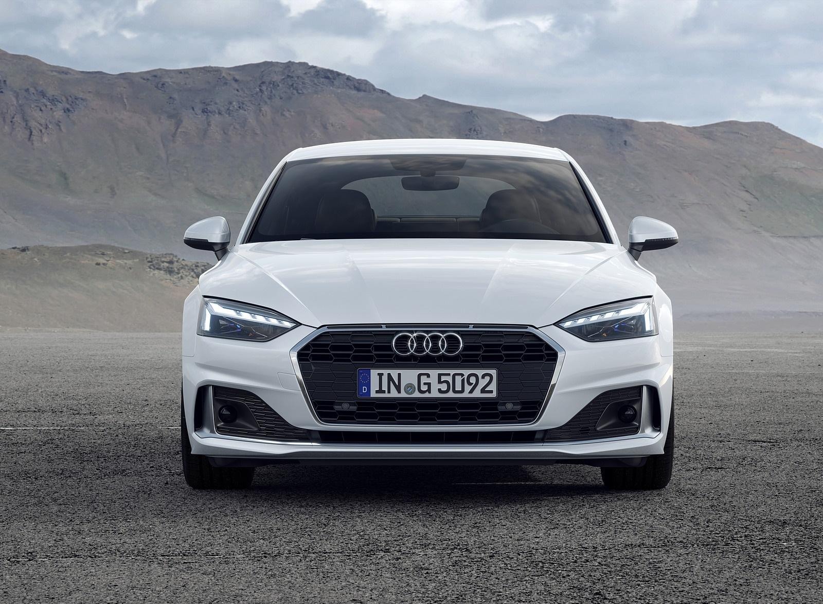 2020 Audi A5 Sportback g-tron (Color: Glacier White) Front Wallpapers (4)