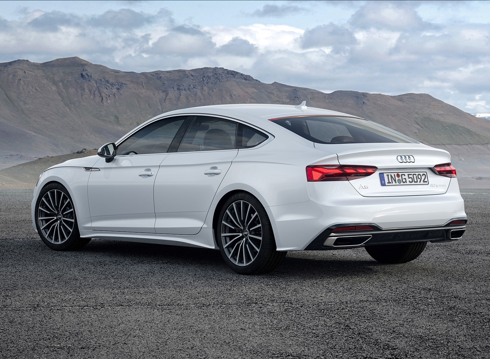 2020 Audi A5 Sportback G Tron Color Glacier White Rear Three Quarter Wallpapers 5 Newcarcars