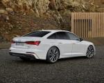 2020 Audi A6 55 TFSI e quattro (Color: Glacier White) Rear Three-Quarter Wallpapers 150x120 (2)