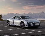 2020 Audi R8 V10 RWD Coupe (Color: Florett Silver) Front Three-Quarter Wallpapers 150x120
