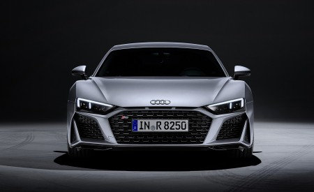 2020 Audi R8 V10 RWD Coupe (Color: Florett Silver) Front Wallpapers 450x275 (23)