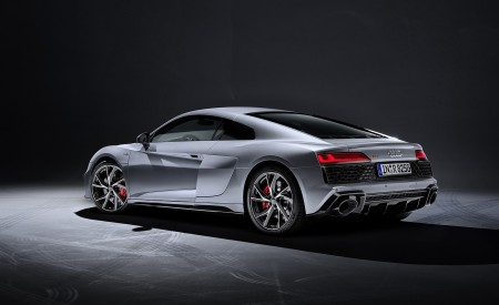 2020 Audi R8 V10 RWD Coupe (Color: Florett Silver) Rear Three-Quarter Wallpapers 450x275 (24)