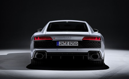 2020 Audi R8 V10 RWD Coupe (Color: Florett Silver) Rear Wallpapers 450x275 (26)