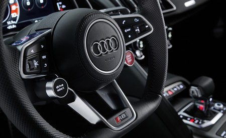2020 Audi R8 V10 RWD Detail Interior Steering Wheel Wallpapers 450x275 (29)