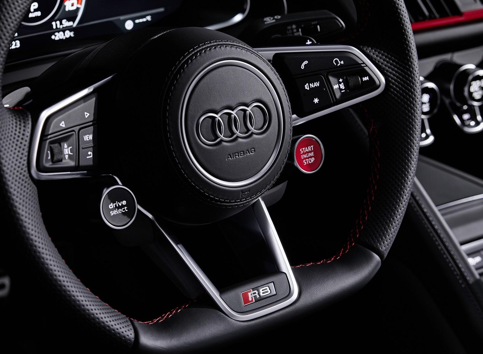 2020 Audi R8 V10 Rwd Interior Steering Wheel Wallpapers 27 Newcarcars