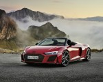 2020 Audi R8 V10 RWD Spyder (Color: Tango Red) Front Three-Quarter Wallpapers 150x120 (8)
