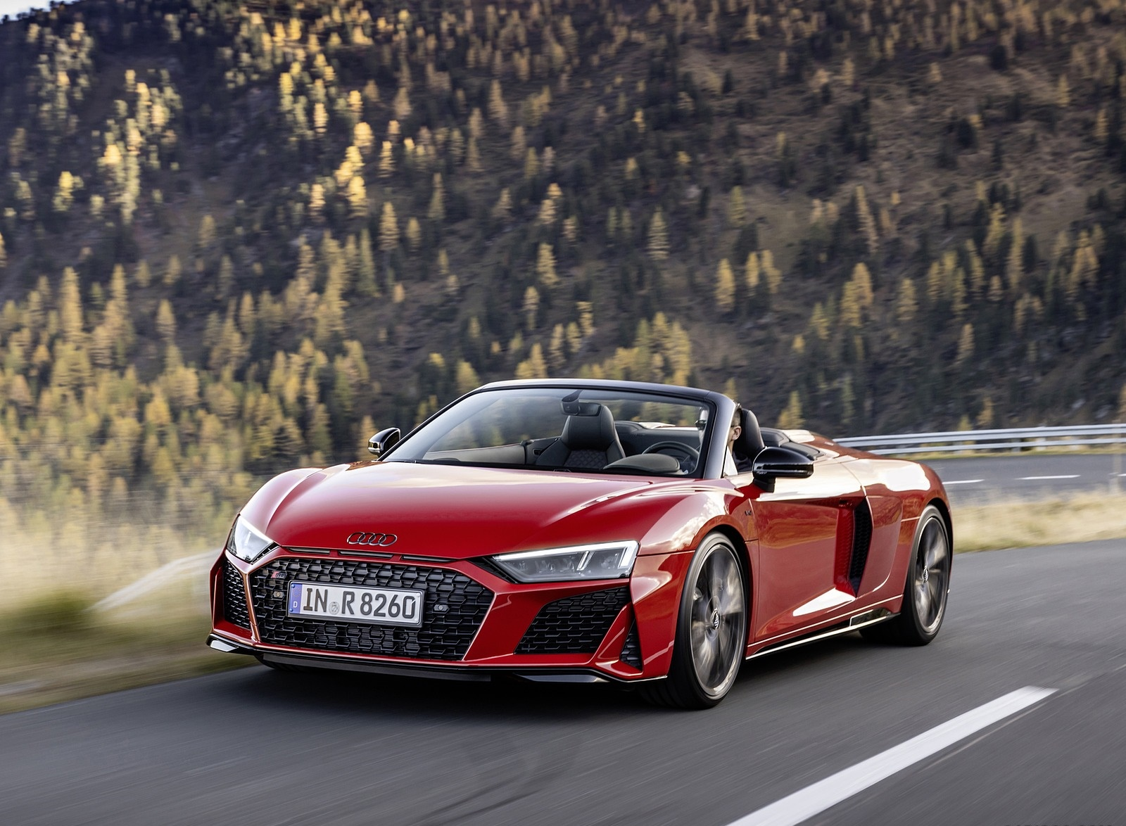 2020 Audi R8 V10 RWD Spyder (Color: Tango Red) Front Three-Quarter Wallpapers (2)