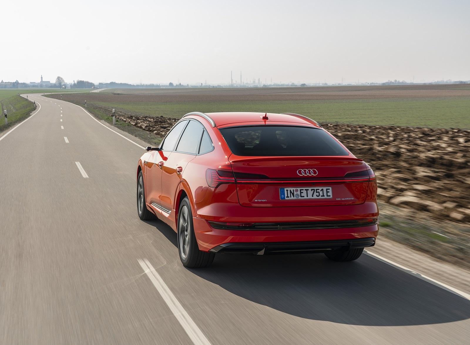 2020 Audi e-tron Sportback (Color: Catalunya Red) Rear Three-Quarter Wallpapers (4)