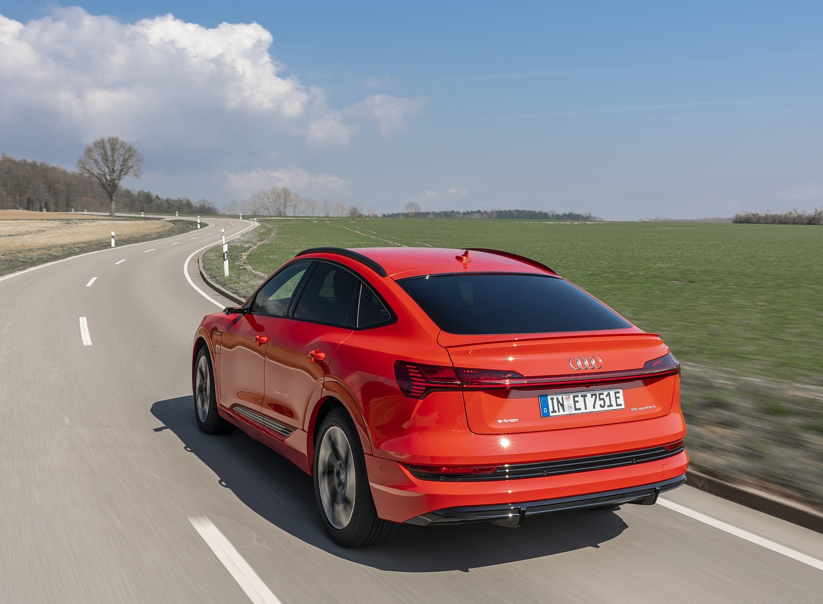 2020 Audi e-tron Sportback (Color: Catalunya Red) Rear Three-Quarter Wallpapers (5)