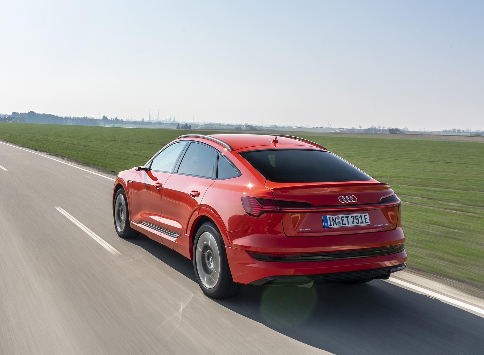 2020 Audi e-tron Sportback (Color: Catalunya Red) Rear Three-Quarter Wallpapers (6)
