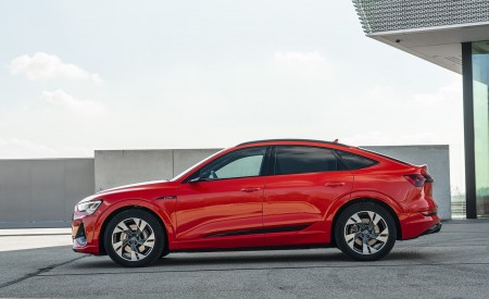 2020 Audi e-tron Sportback (Color: Catalunya Red) Side Wallpapers 450x275 (11)