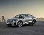 2020 Audi e-tron Sportback (Color: Florett Silver) Front Three-Quarter Wallpapers 150x120 (25)
