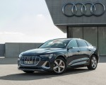 2020 Audi e-tron Sportback (Color: Plasma Blue) Front Three-Quarter Wallpapers 150x120 (22)