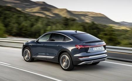 2020 Audi e-tron Sportback (Color: Plasma Blue) Rear Three-Quarter Wallpapers 450x275 (49)