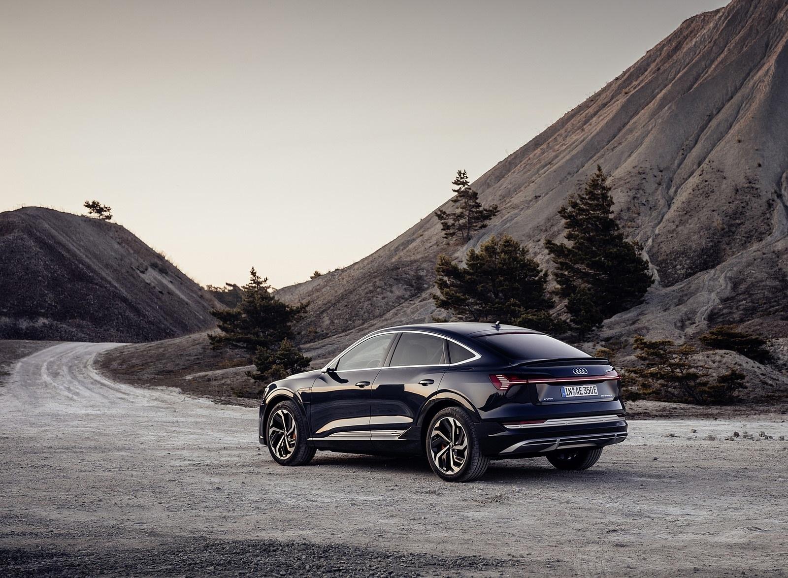 2020 Audi e-tron Sportback (Color: Plasma Blue) Rear Three-Quarter Wallpapers (9)