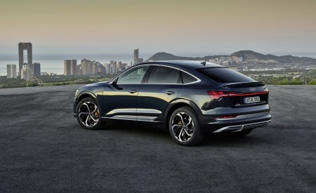 2020 Audi e-tron Sportback (Color: Plasma Blue) Rear Three-Quarter Wallpapers 450x275 (52)