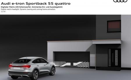 2020 Audi e-tron Sportback Digital matrix LED headlight Dynamic leaving and coming home animation Wallpapers 450x275 (144)