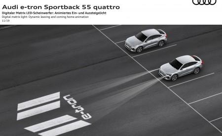 2020 Audi e-tron Sportback Digital matrix LED headlight Dynamic leaving and coming home animation Wallpapers 450x275 (141)