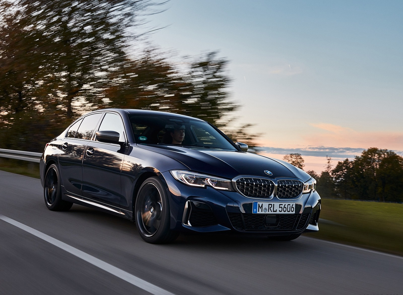 2020 BMW M340i Sedan (Color: Tanzanite Blue Metallic) Front Three-Quarter Wallpapers (3)
