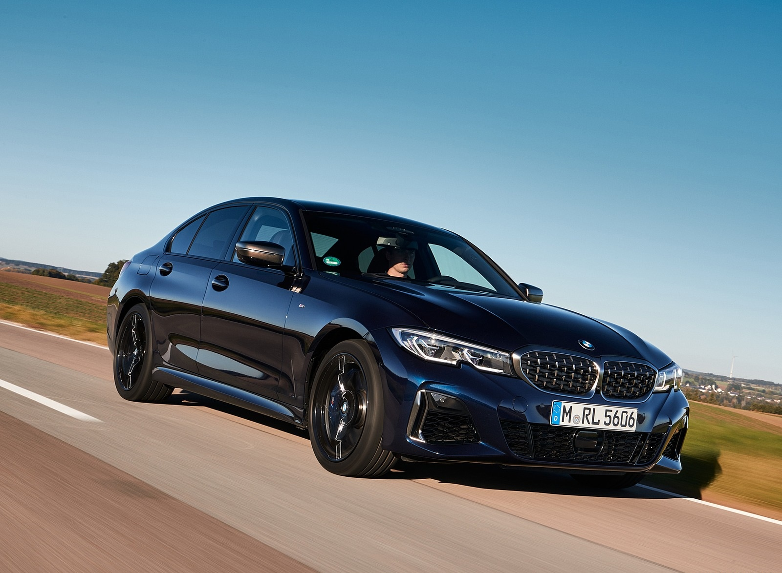 2020 BMW M340i Sedan (Color: Tanzanite Blue Metallic) Front Three-Quarter Wallpapers (1)