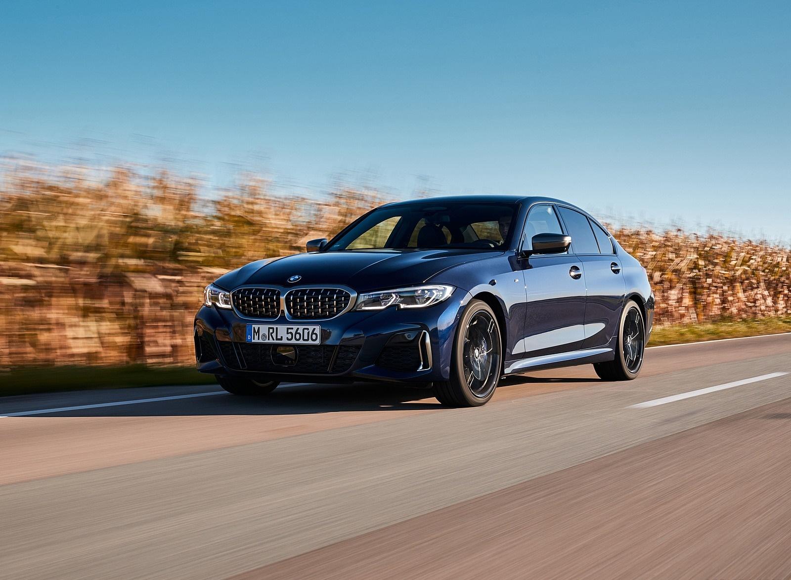 2020 BMW M340i Sedan (Color: Tanzanite Blue Metallic) Front Three-Quarter Wallpapers (4)