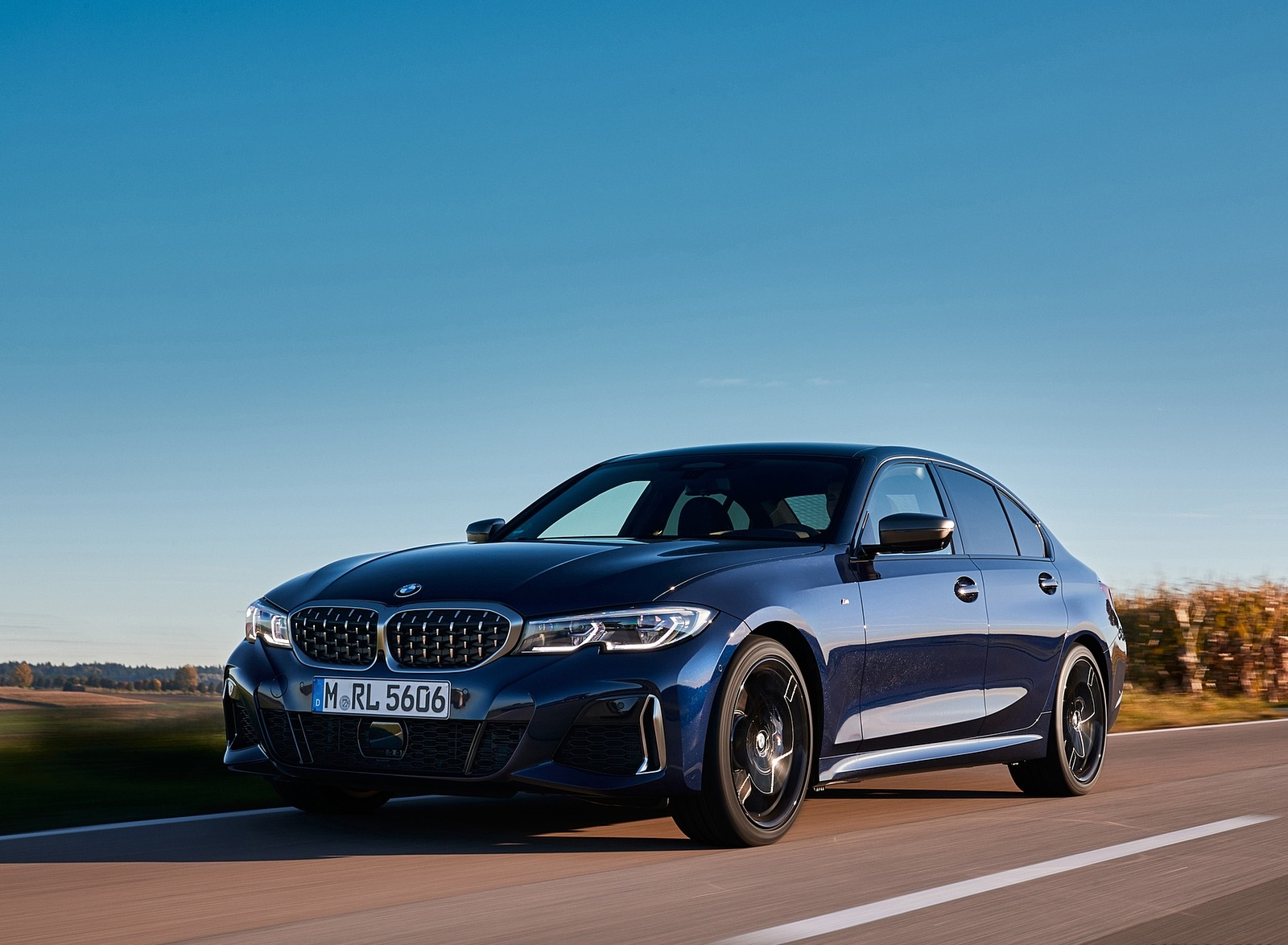 2020 BMW M340i Sedan (Color: Tanzanite Blue Metallic) Front Three-Quarter Wallpapers #8 of 74