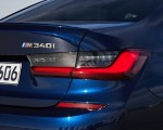 2020 BMW M340i Sedan (Color: Tanzanite Blue Metallic) Tail Light Wallpapers 150x120