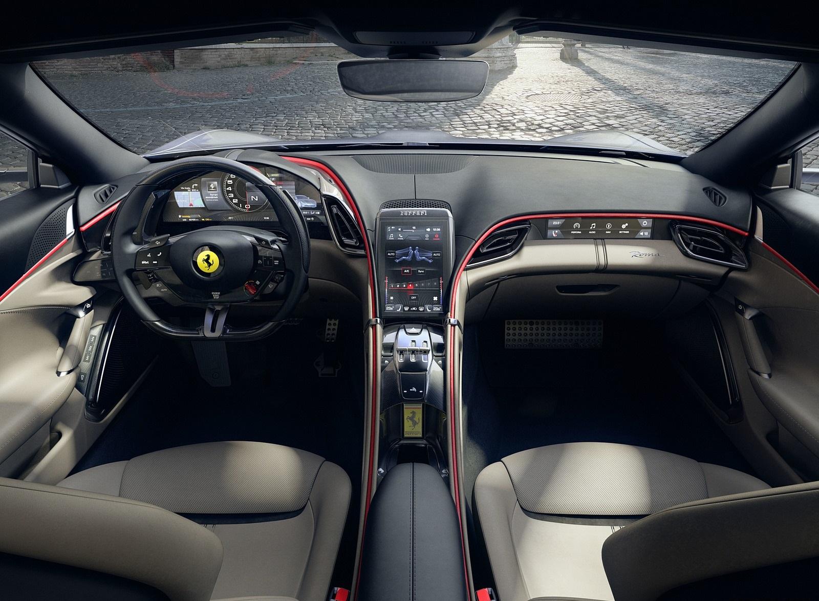 2020 Ferrari Roma Interior Cockpit Wallpapers (8)
