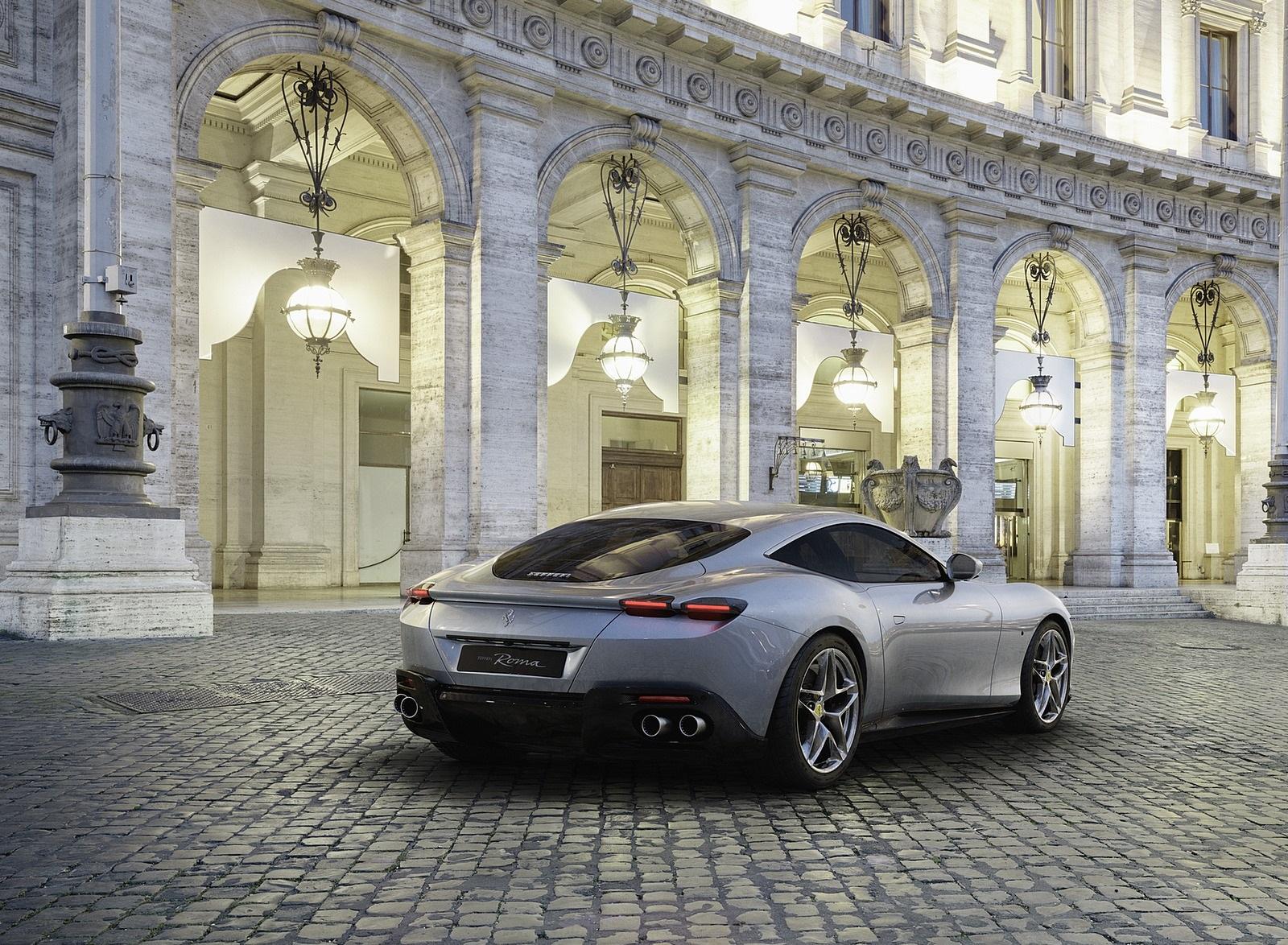 2020 Ferrari Roma Rear Three-Quarter Wallpapers (2)