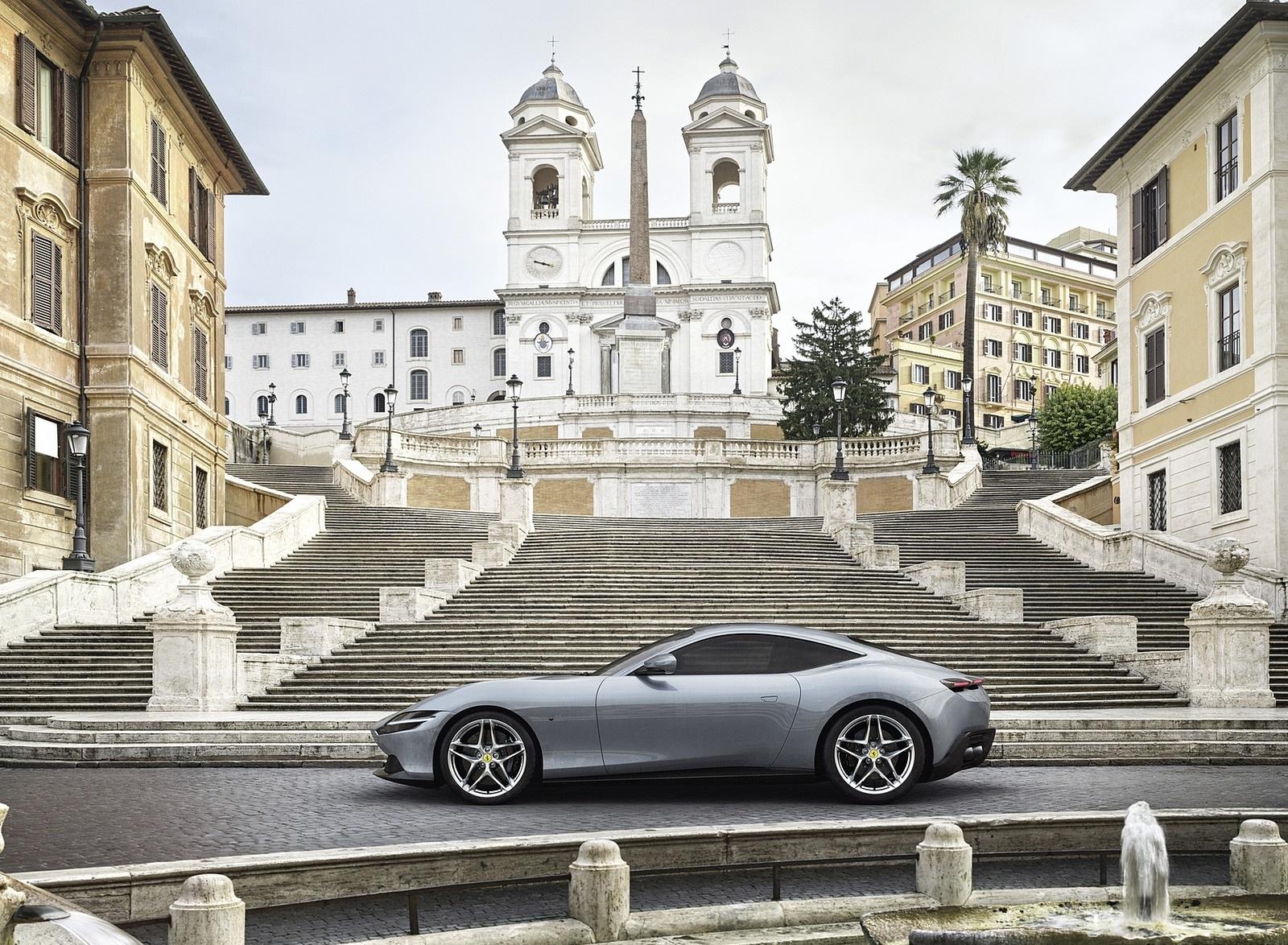 2020 Ferrari Roma Side Wallpapers (4)