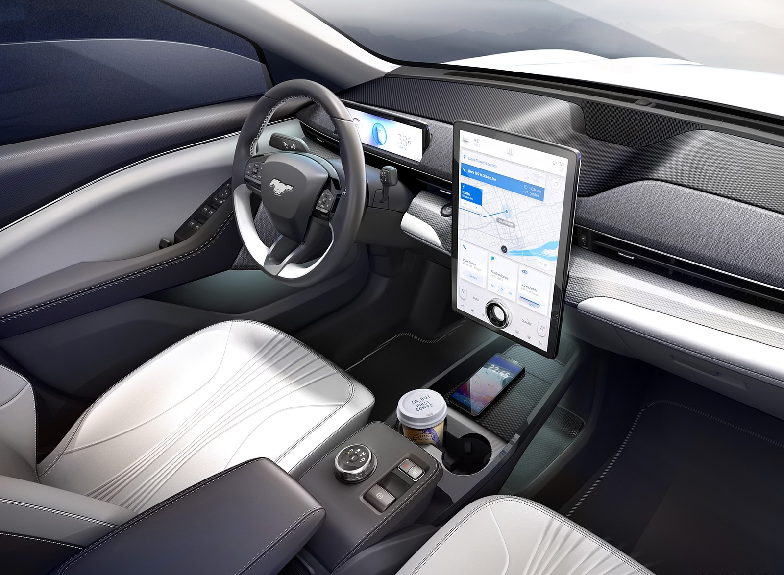 2021 Ford Mustang Mach E Electric Suv Interior Wallpapers 65 Newcarcars