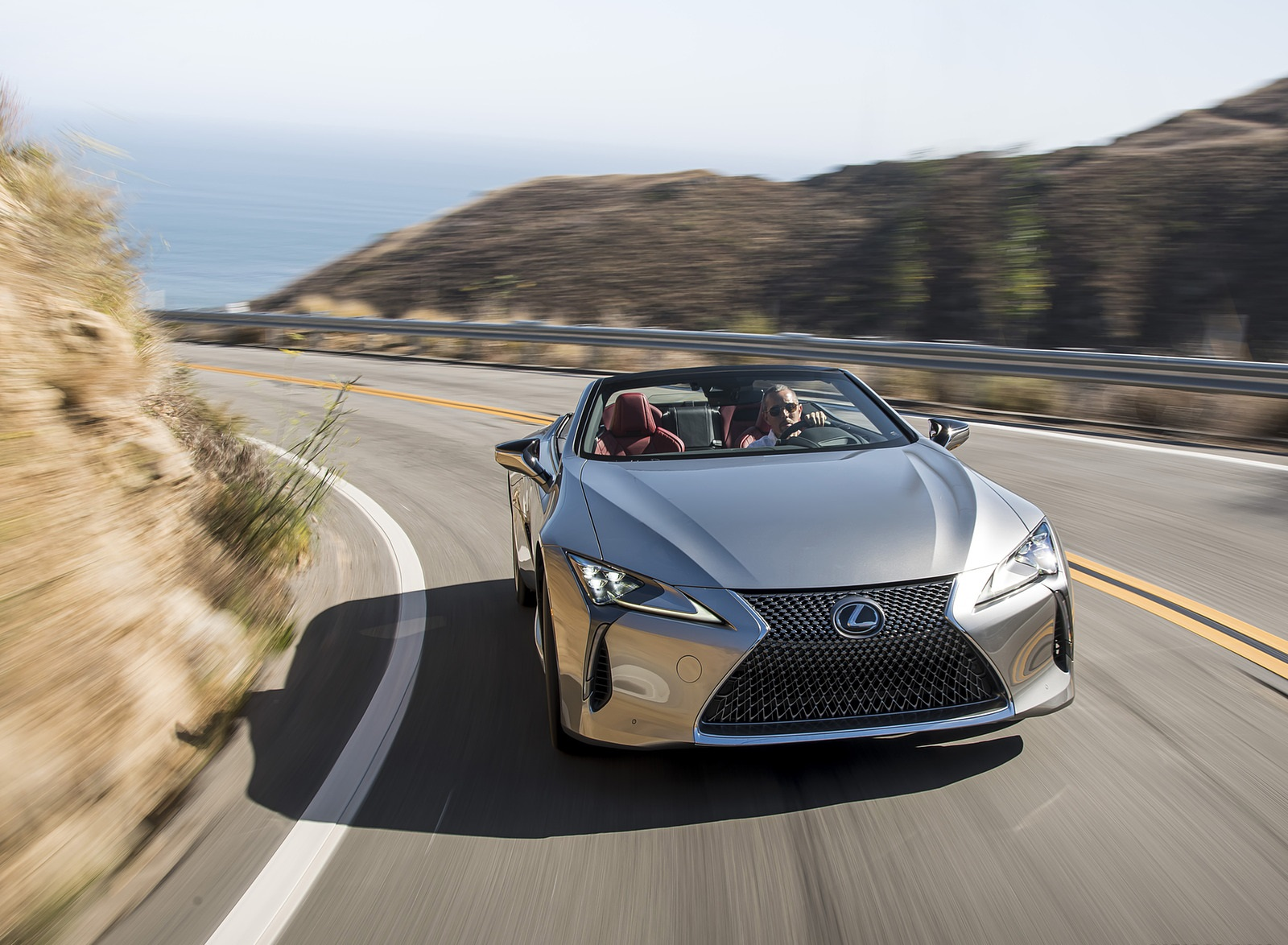 2021 Lexus LC Convertible Front Wallpapers (2)