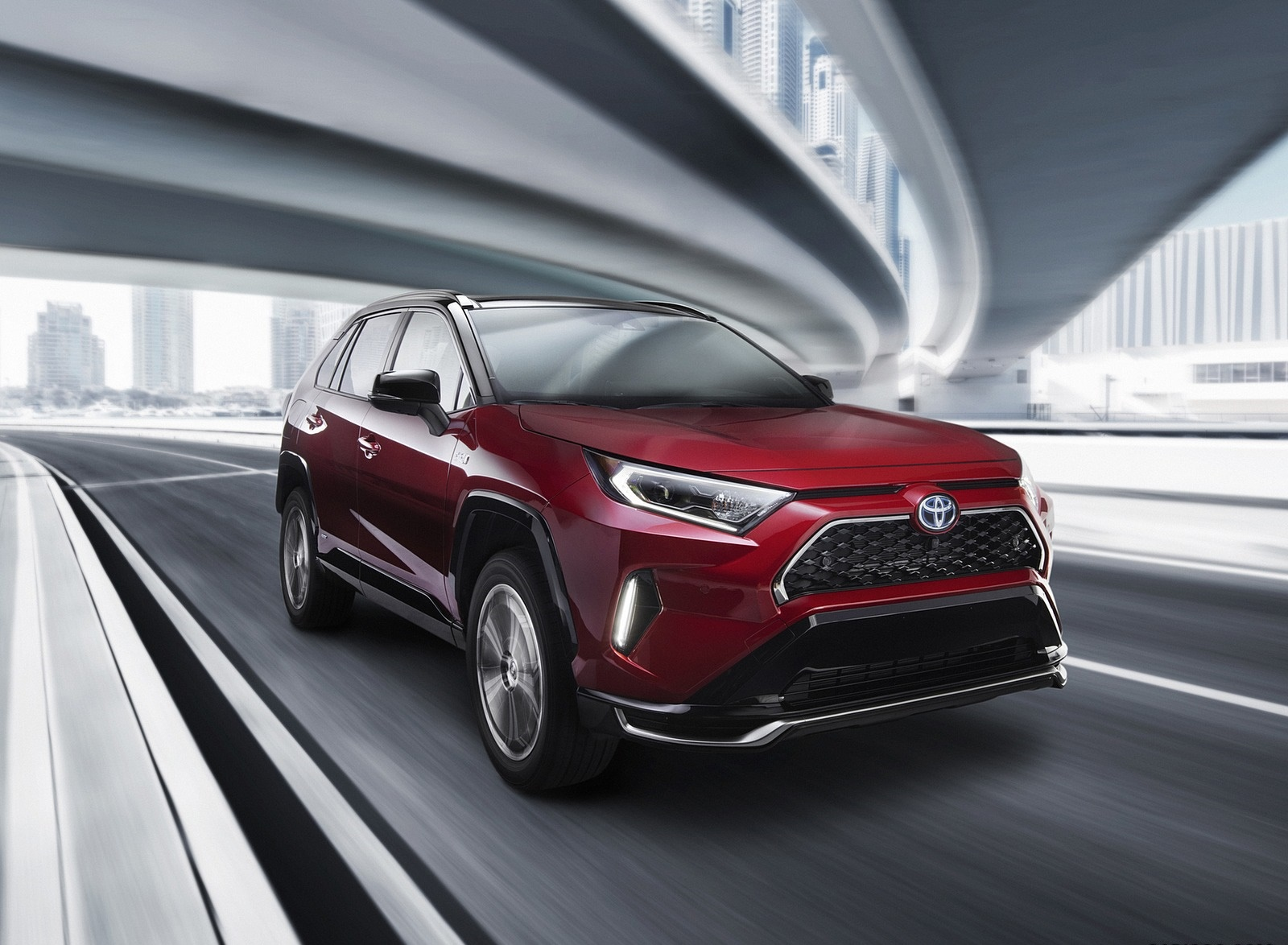 2021 Toyota RAV4 Prime Plug-In Hybrid Front Three-Quarter Wallpapers (2)