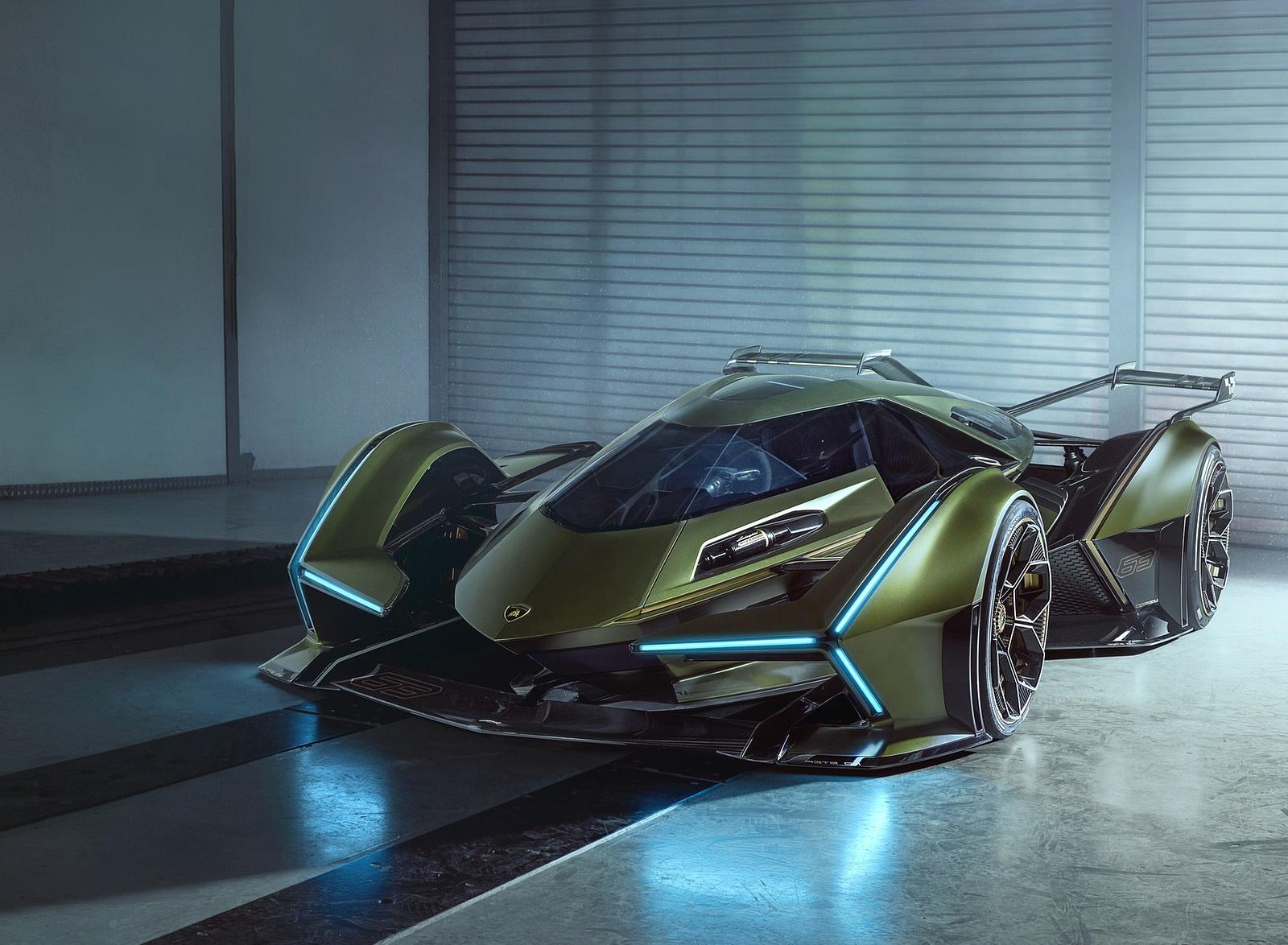 2019 Lamborghini Lambo V12 Vision Gran Turismo Front Wallpapers (4)