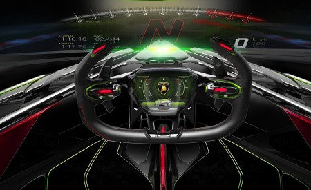 2019 Lamborghini Lambo V12 Vision Gran Turismo Interior Detail Wallpapers 450x275 (16)