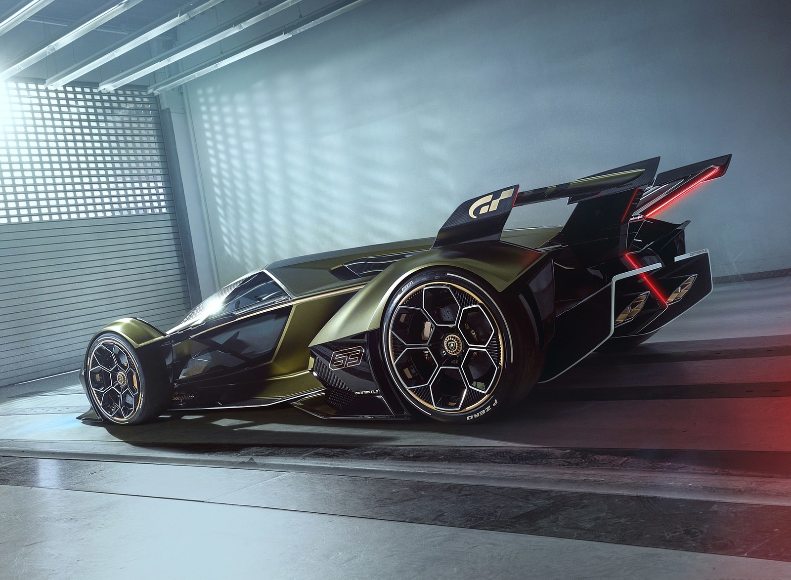 2019 Lamborghini Lambo V12 Vision Gran Turismo Rear Three-Quarter Wallpapers (6)