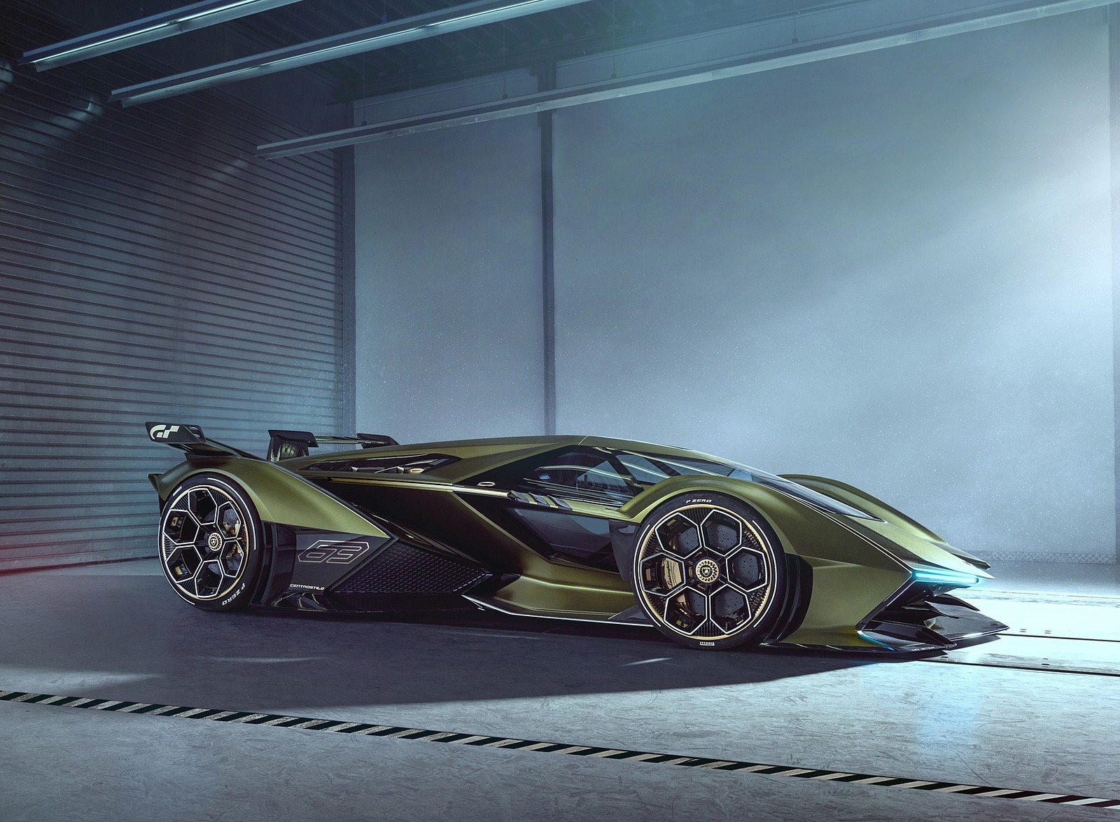 2019 Lamborghini Lambo V12 Vision Gran Turismo Side Wallpapers (7)