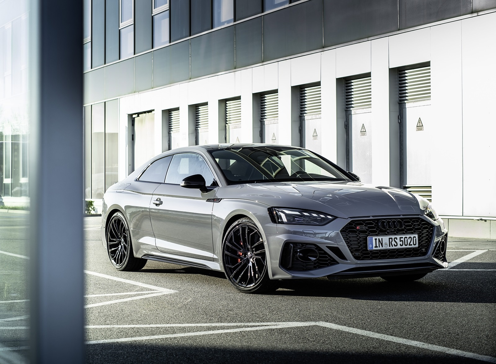 2020 Audi RS 5 Coupe (Color: Nardo Gray) Front Three-Quarter Wallpapers (6)