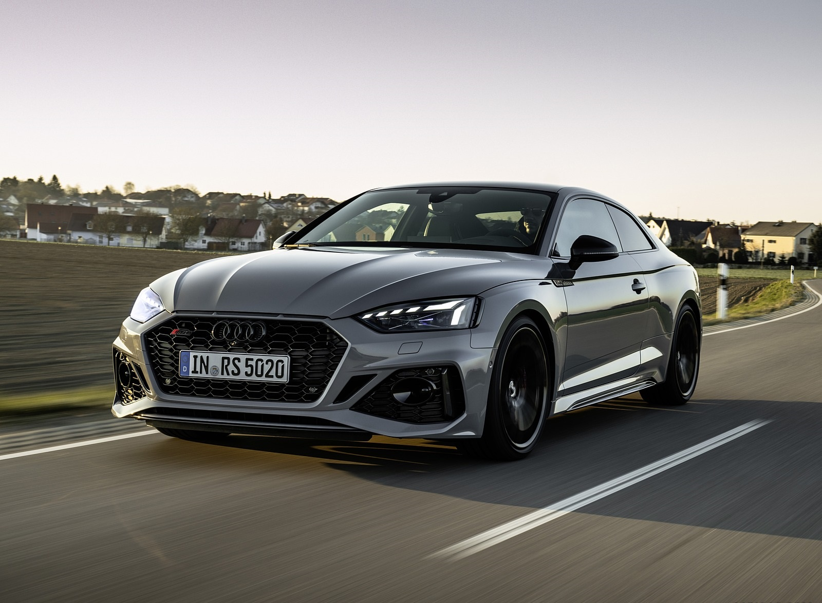 2020 Audi RS 5 Coupe (Color: Nardo Gray) Front Three-Quarter Wallpapers (1)